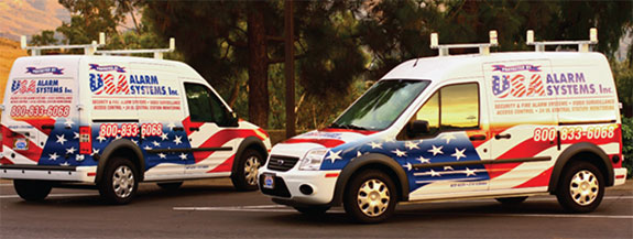 USA ALARM SYSTEMS SERVICE VANS